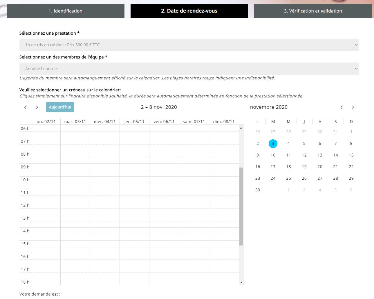 Agenda en ligne avocalix