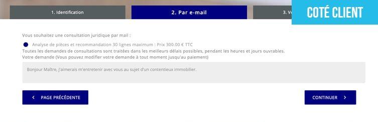 Consultation par email